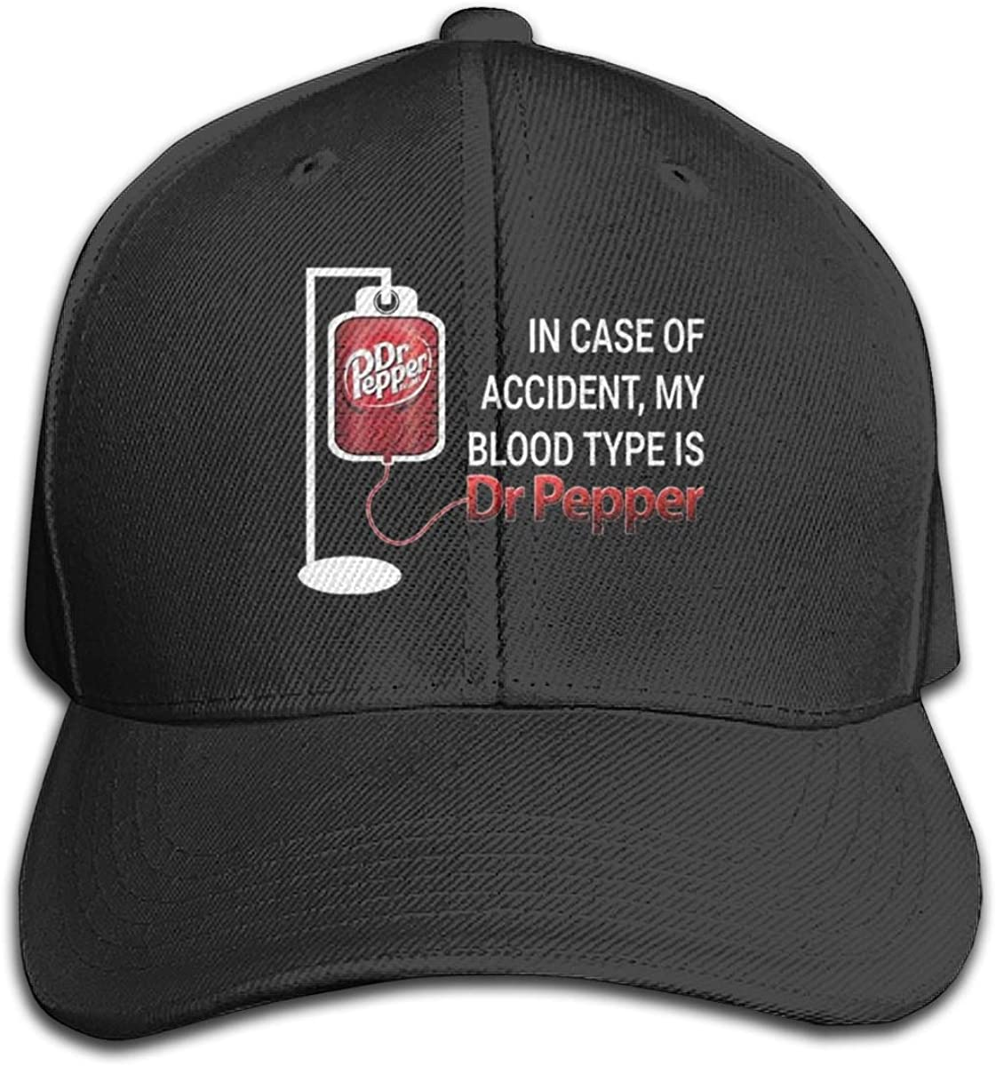 Moslad Klosy in Case of Accident My Blood Type is Dr Pepper Classic Baseball Cap Dad Hat Sports Golf Cap
