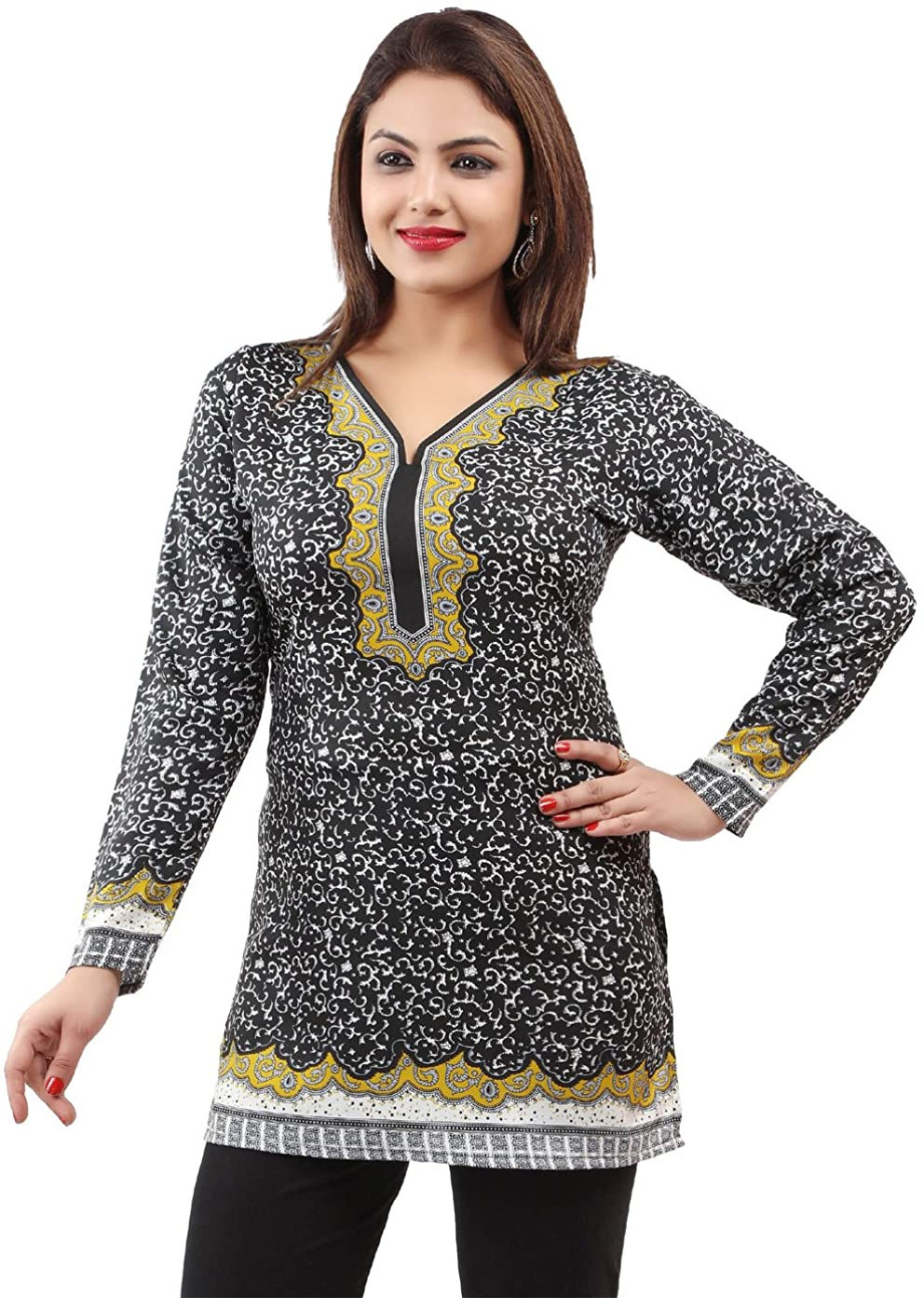 Maple Clothing Printed Short Kurti Women's Kurta India Tunic Top