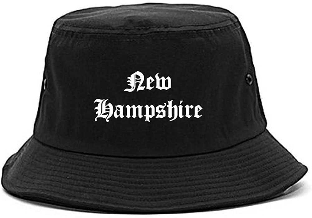 Kings Of NY NH New Hampshire State Old English Bucket Hat