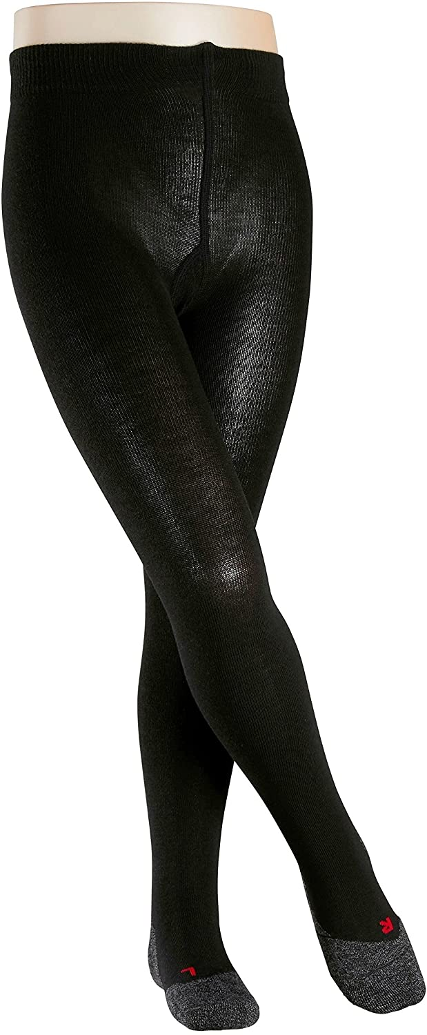 FALKE Girls Active Warm Tights - Wool Blend, In Black or Grey, Sizes 1 to 16 years, 1 Pair