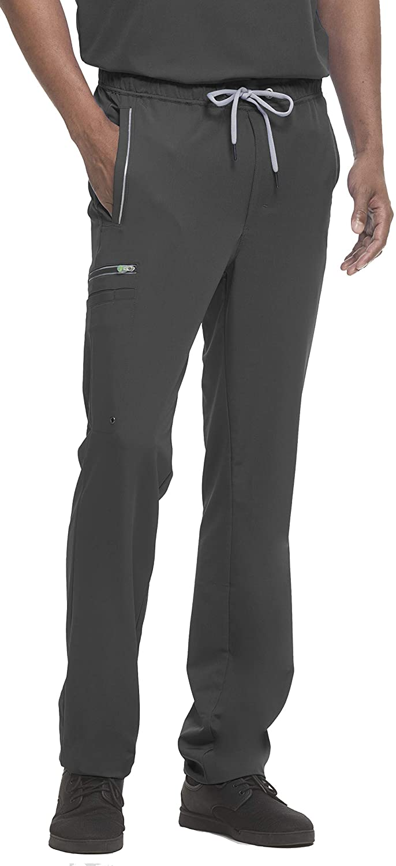 HH360 Men's Noah 9171 Drawstring/Elastic Waist Zip Fly Cargo Scrub Pant-Black-Small Short
