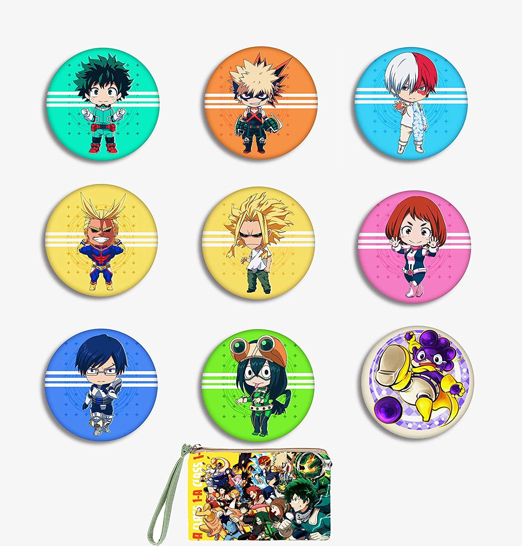 Floette Boku No Hero Academia My Hero Academia Pins Button Ita Bag Accessories (Set of 9)