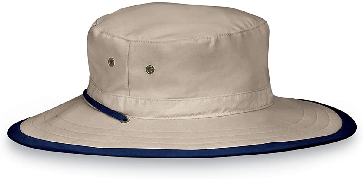 Wallaroo Hat Company Explorer Sun Hat – Natural - UPF 50+, Unisex, Ready for Adventure, Designed in Australia