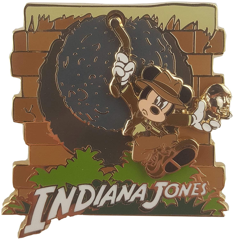 Disney Indiana Jones Mickey Mouse Swinging 3D Pin