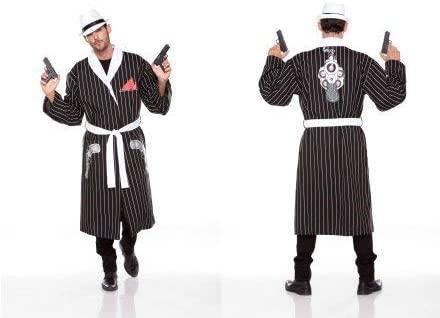 Halloween Wholesalers Striped Robe (Black & White)