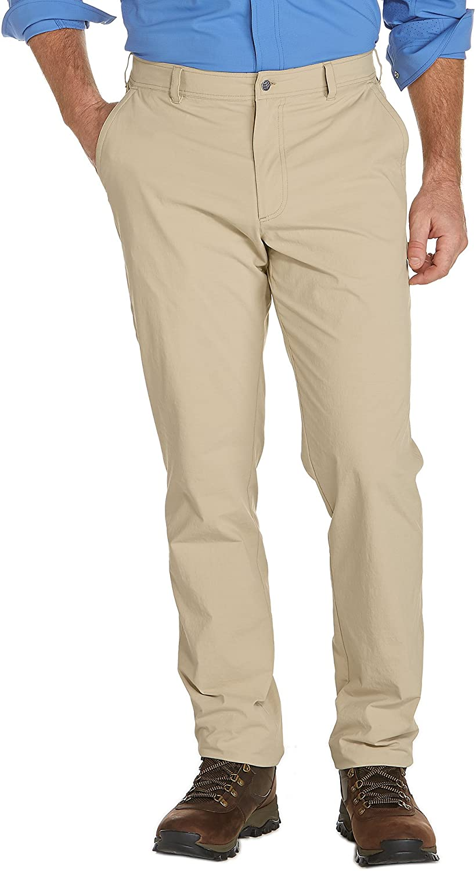 Coolibar UPF 50+ Men's Marco Summer Casual Pants - Sun Protective (36x30- Washed Tan)