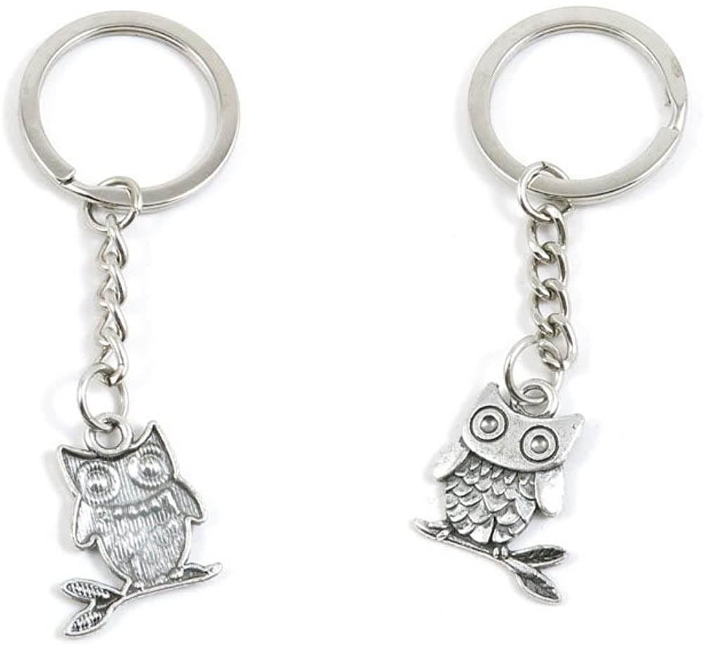 Cute Owl Keychain Keyring Jewelry Making Charms Door Car Key Tag Chain Ring H4PP7R