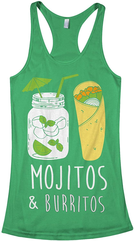 Threadrock Womens Mojitos & Burritos Racerback Tank Top