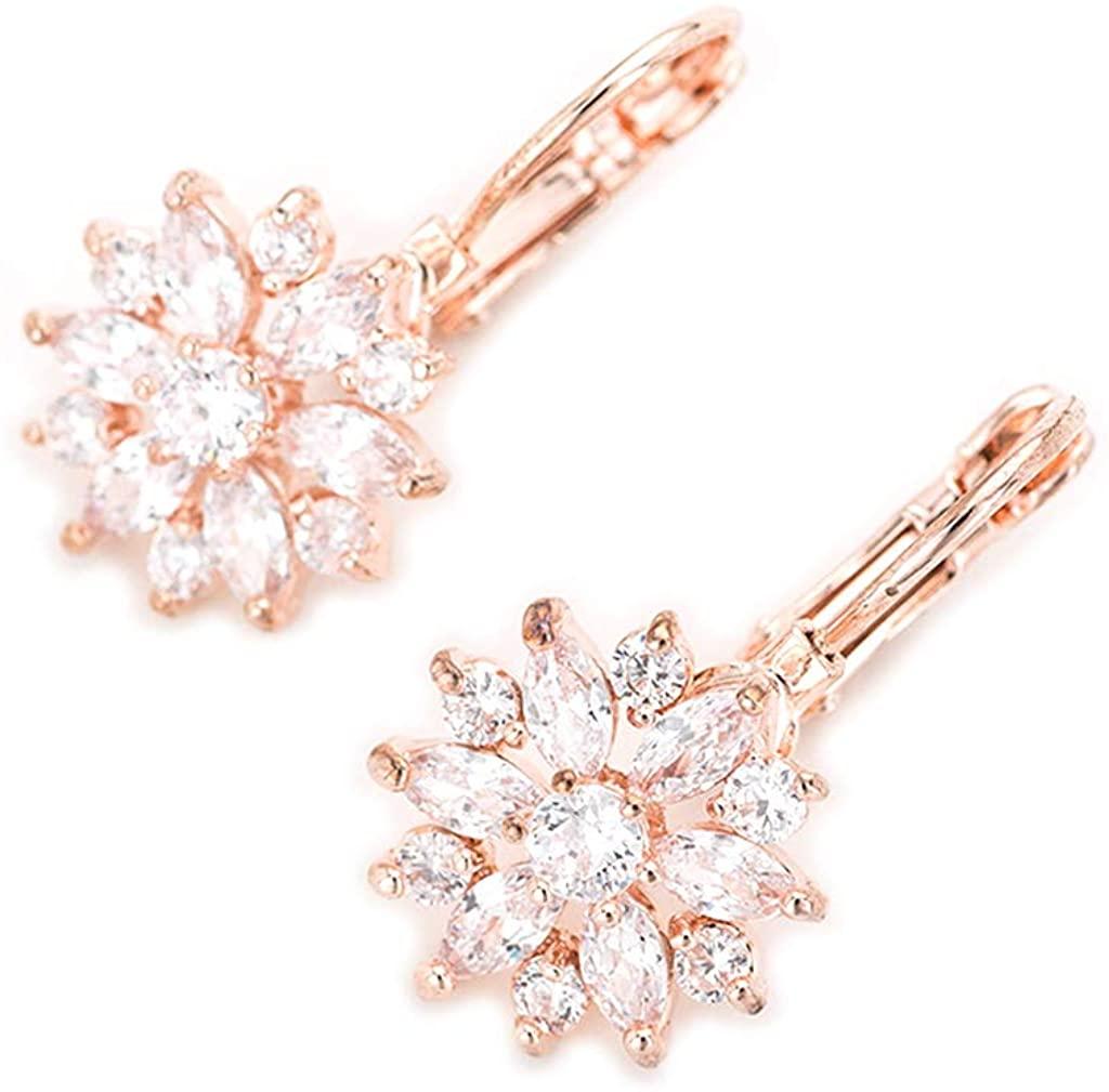 Ydingzui Earrings Snowflake Earrings with Dangle Earrings Gift for Girls