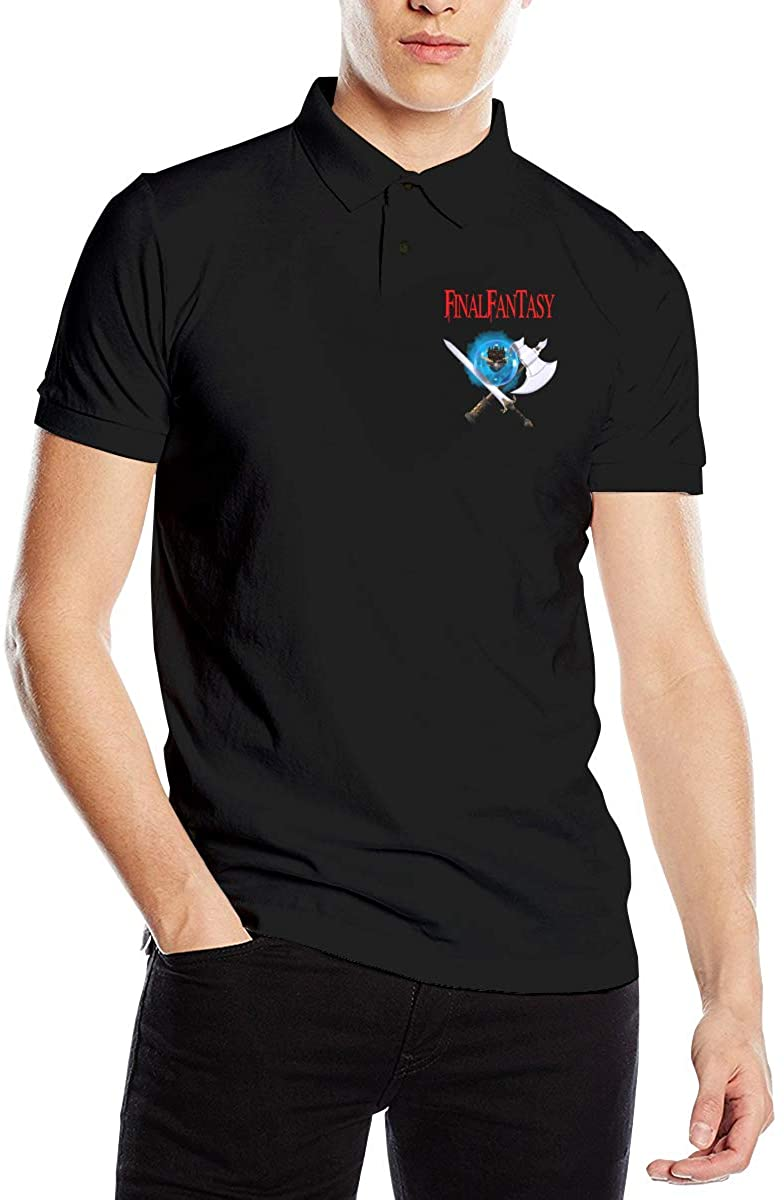 Final Fantasy Fashionable Men's Premium Polo Shirt Short Sleeve T-Shirt