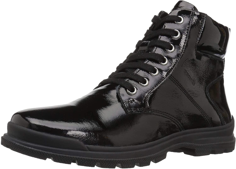Geox Girls' Navado 2 Insulated Shiny Work Boot Combat, Black