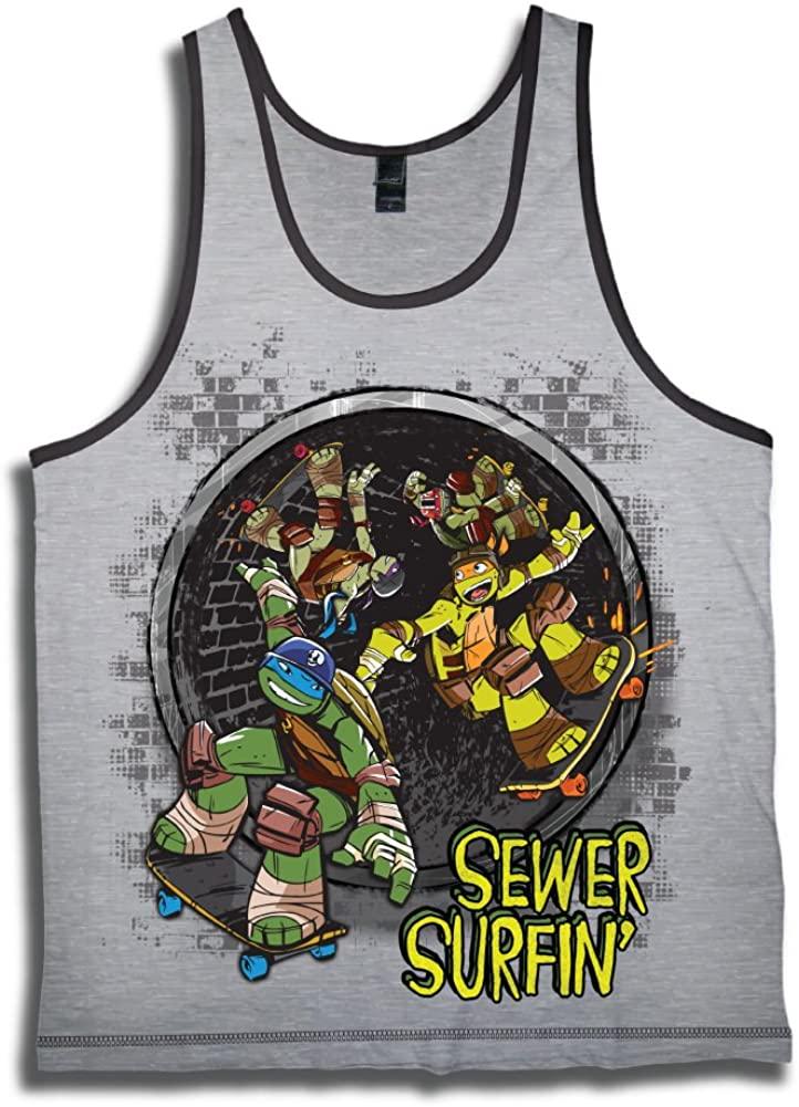 Teenage Mutant Ninja Turtles Boys' TMNT Sewer Surfin' Tank Top