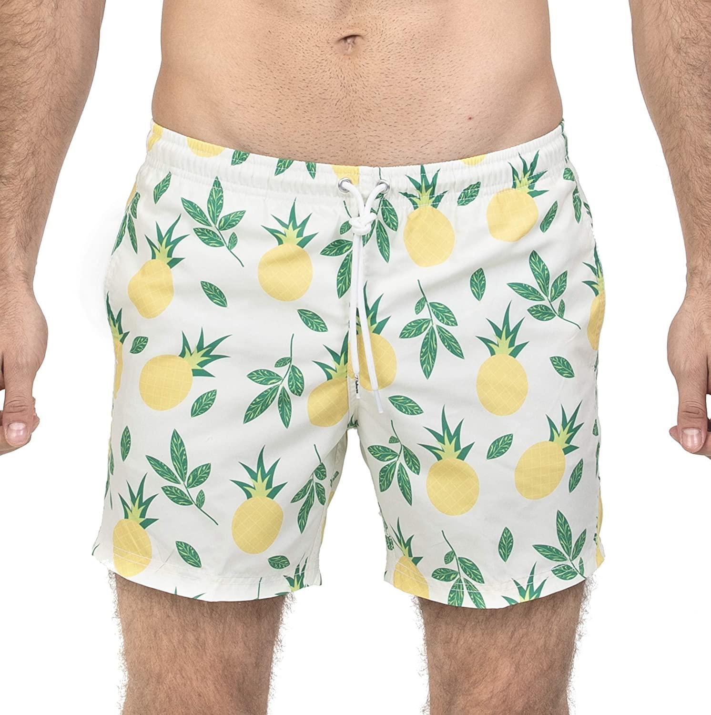 Palmers Swim Shorts Mens Quick Dry Swim Trunks with Mesh Lining, Print Swimwear Swimsuit