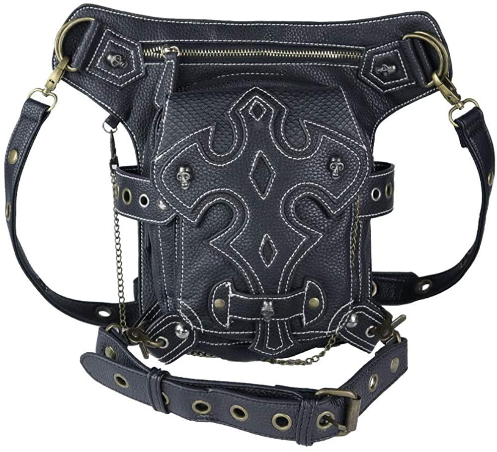 steel master Retro Leg Holster Bags Punk Waist Bag for Men Women Victorian Shoulder Crossbody Bag