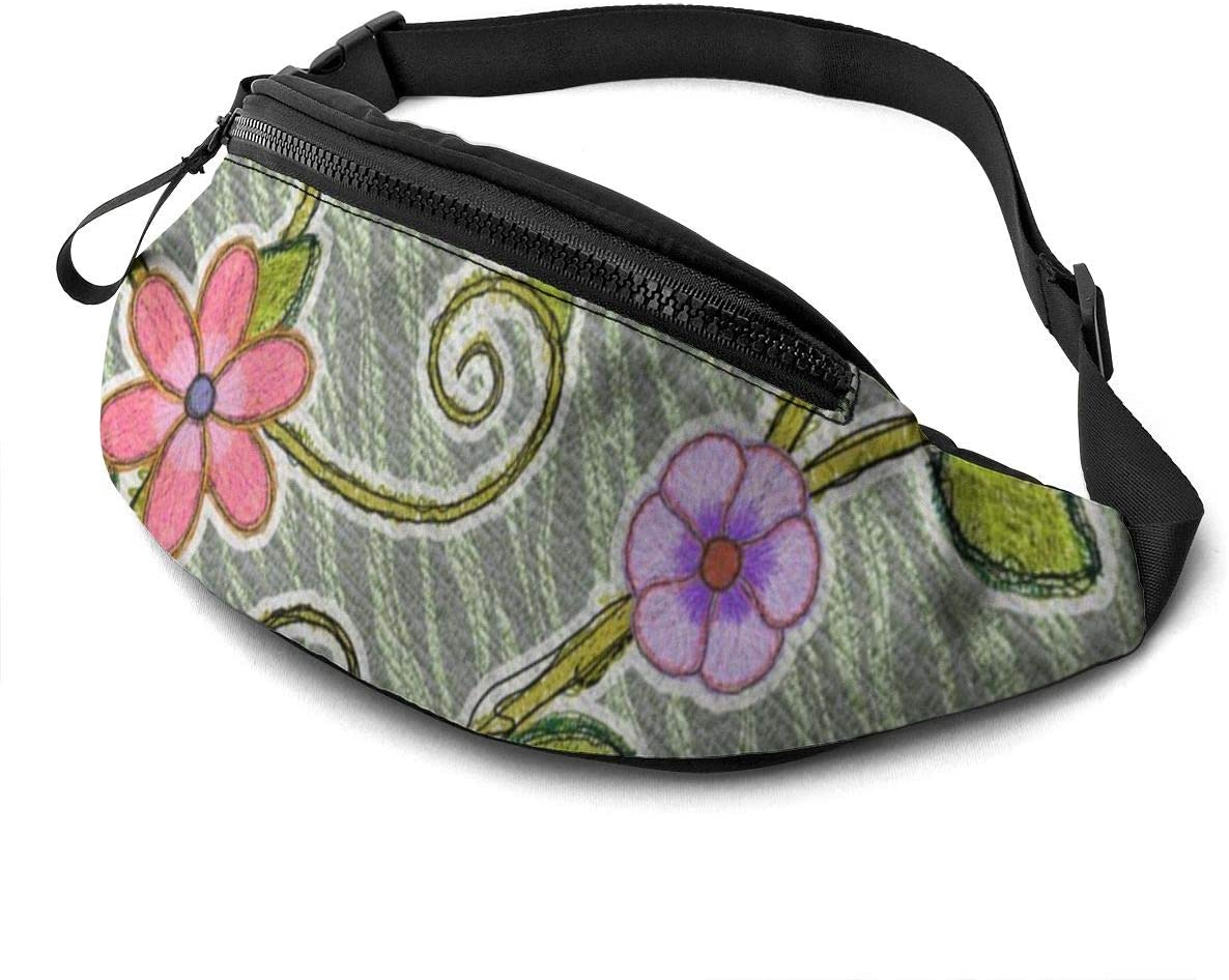 colored creeper Fanny Pack for Men Women Waist Pack Bag with Headphone Jack and Zipper Pockets Adjustable Straps