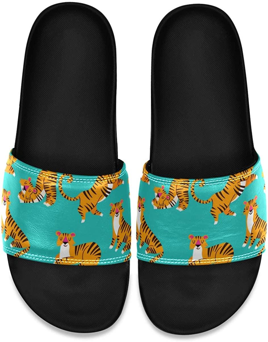 Men's Shower Slides Burning Heart with Flame Slide Sandal, Slippers, Sandals for Men