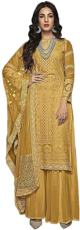 stylishfashion Indian/Pakistani Plaazo Sharara Stitched Salwar Kameez