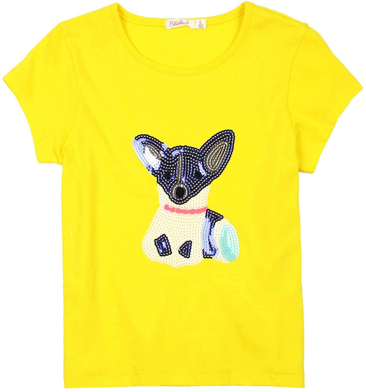 Billieblush Girls T-Shirt with Sequin Dog, Sizes 3-12