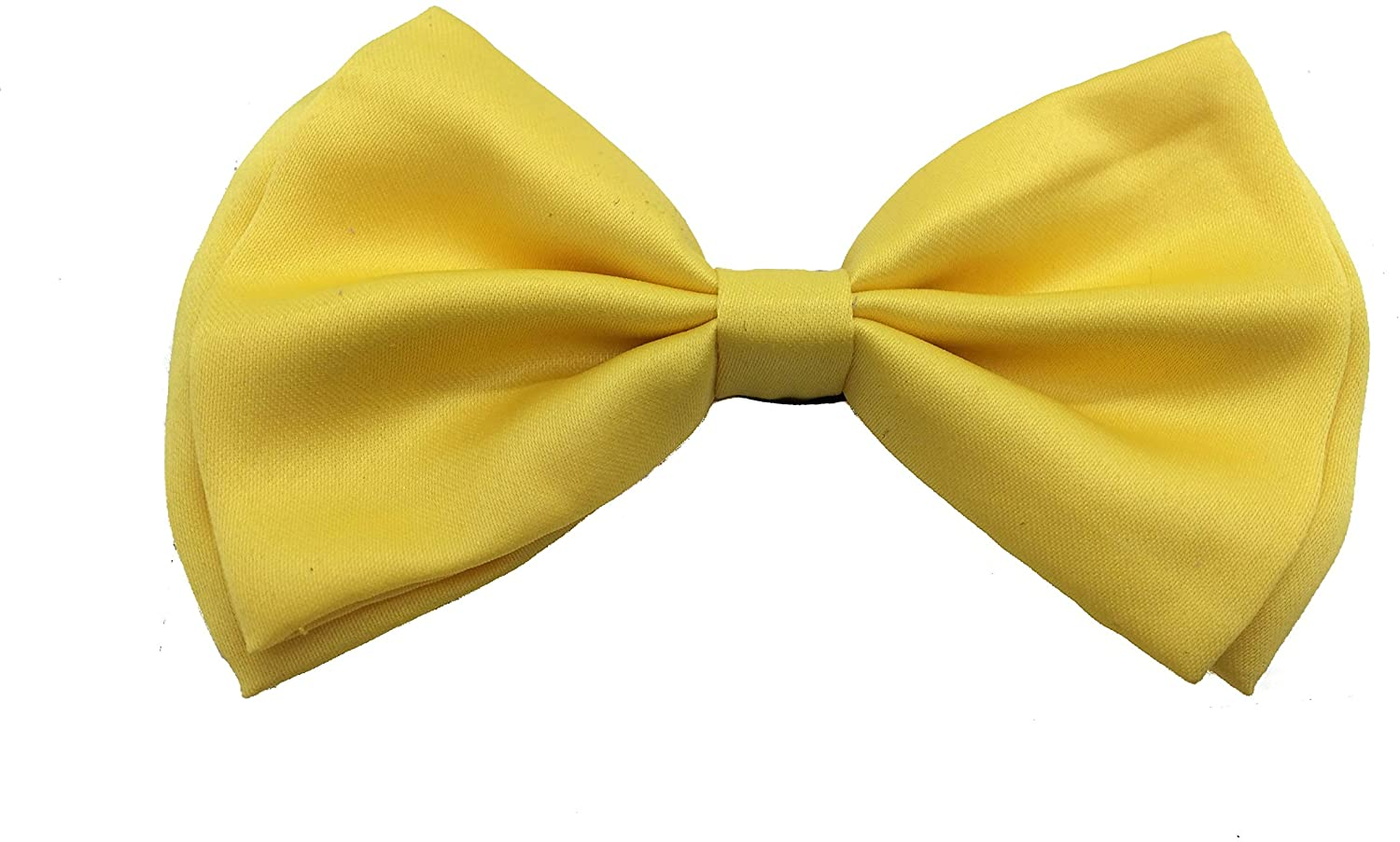 Yellow Color Tuxedo Classic BowTie Pure Plain Neckwear Adjustable Mens Bow Tie