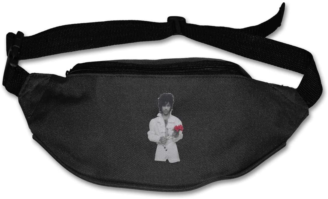 Ertregysrtg Prince Flower Runner's Waist Pack Fashion Sport Bag