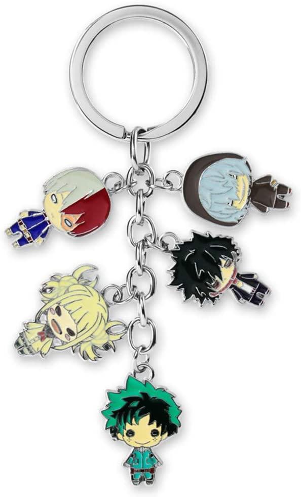 WerNerk My Hero Academia-Todoroki/Izuku Midoriya Deku/Bakugou Katsuki Cute Key Chain 1pcs(Style 1)