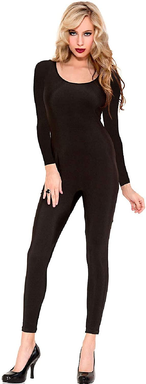 Music Legs Full Body Long Sleeve Bodysuit Accessories Black
