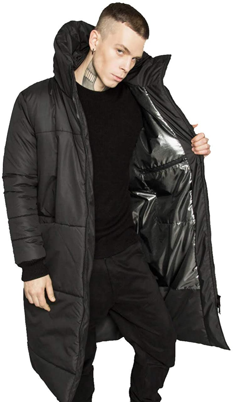 Mens Winter Coats Water-Repellent Windproof Thicken Parkas Long Hooded Padded Puffer Jacket