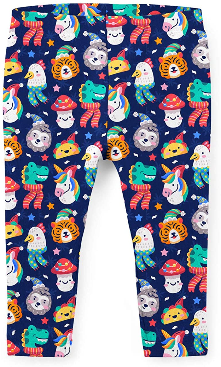 Youth Leggings - Funny Christmas Animals Blue