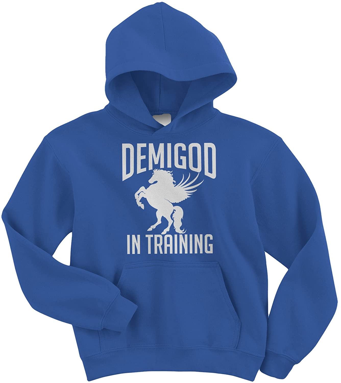 Threadrock Big Boys' Demigod in Training Youth Hoodie Sweatshirt
