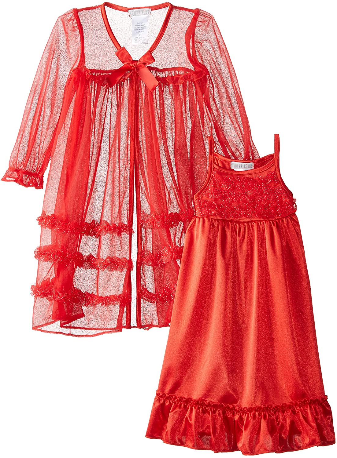 Komar Kids Little Girls' Red Peignoir Gown Set