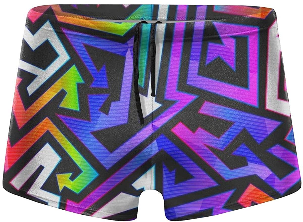 Graffiti Street Men's Swimming Trunks Boxer Shorts Simple Tight Shorts Swimwear