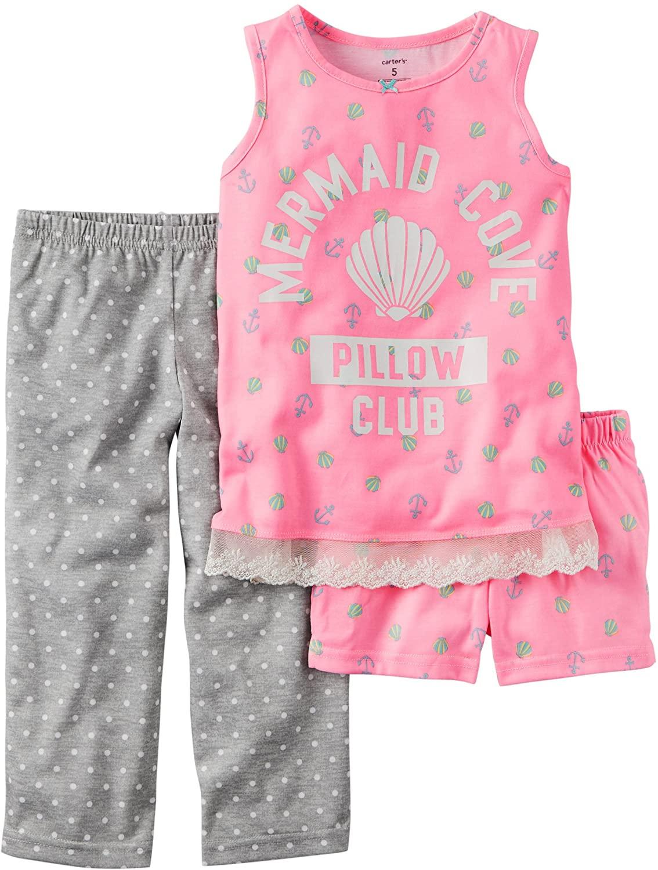 Carter's Girls 3-Piece Mermaid Pajama Set;Pink (4)