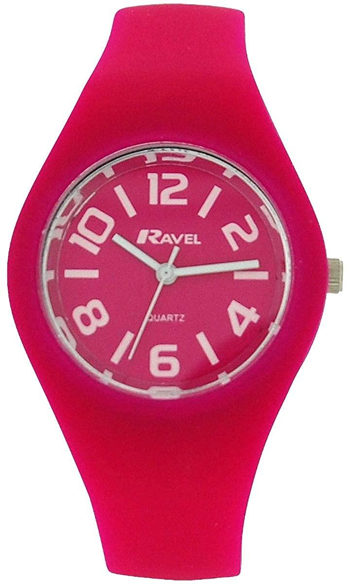 Ravel Girls Analogue Hot Pink Quartz Dial Rubber Strap Watch R1801.05.2