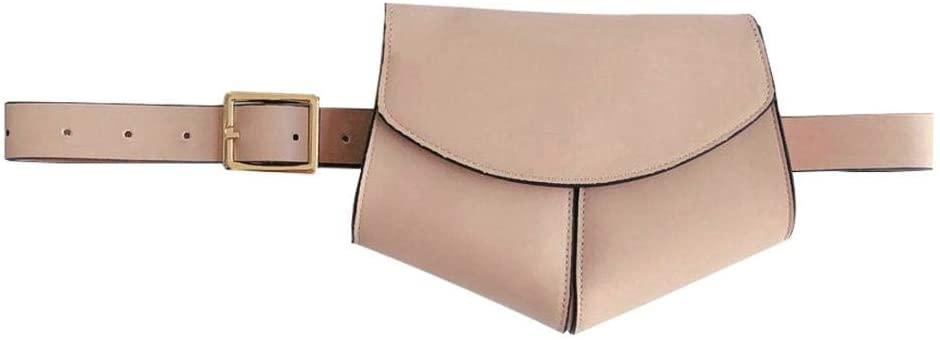 Womens Mini Adjustable Waist Snakeskin Fanny Belt Pack Bag Phone Purs (Pink)