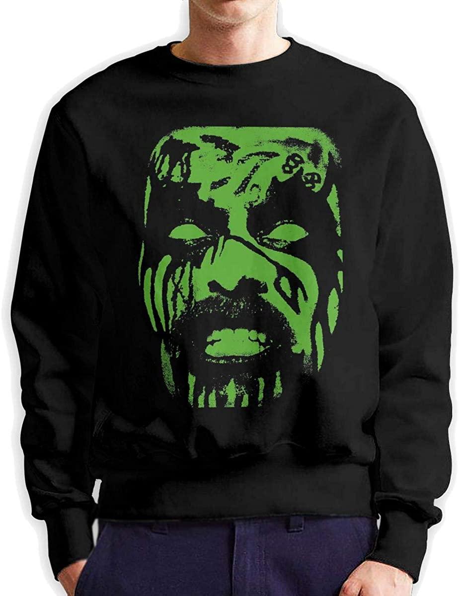 KarleDeal King Diamond Man Round Neck Long Sleeve Sweater Loose Fashion Black