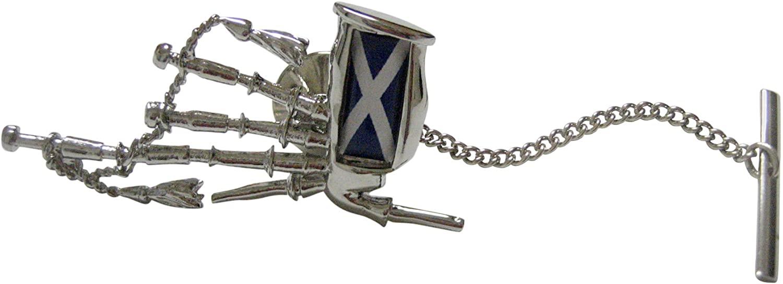 Scotland Flag Scottish Bag Pipes Music Instrument Tie Tack