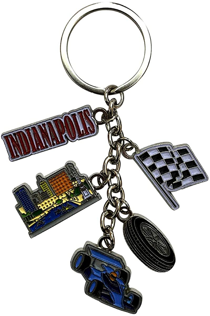 Indianapolis 5 Charm Souvenir Icons Metal Durable Novelty Keychain