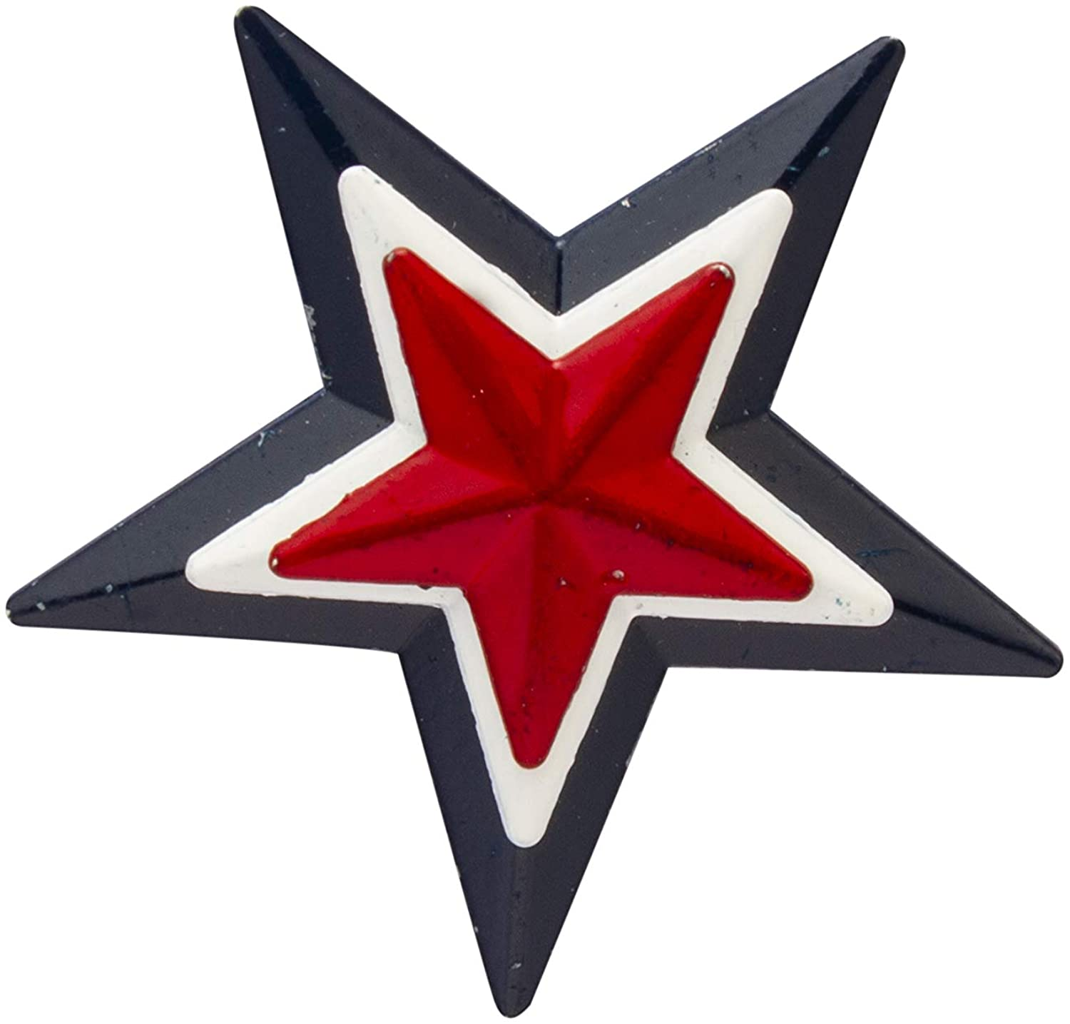 Knighthood Red and Blue Star Lapel Pin Brooch (Alloy)