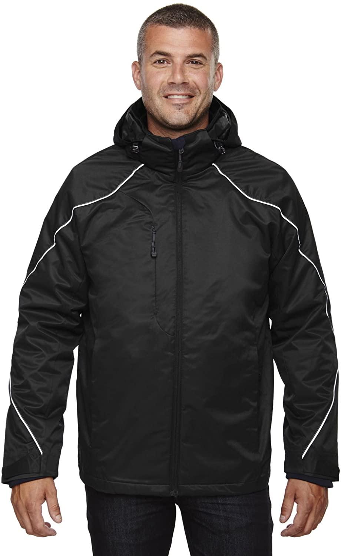 North End Angle Mens Big & Tall Black 3-in-1 Bonded Fleece Liner Winter Jacket