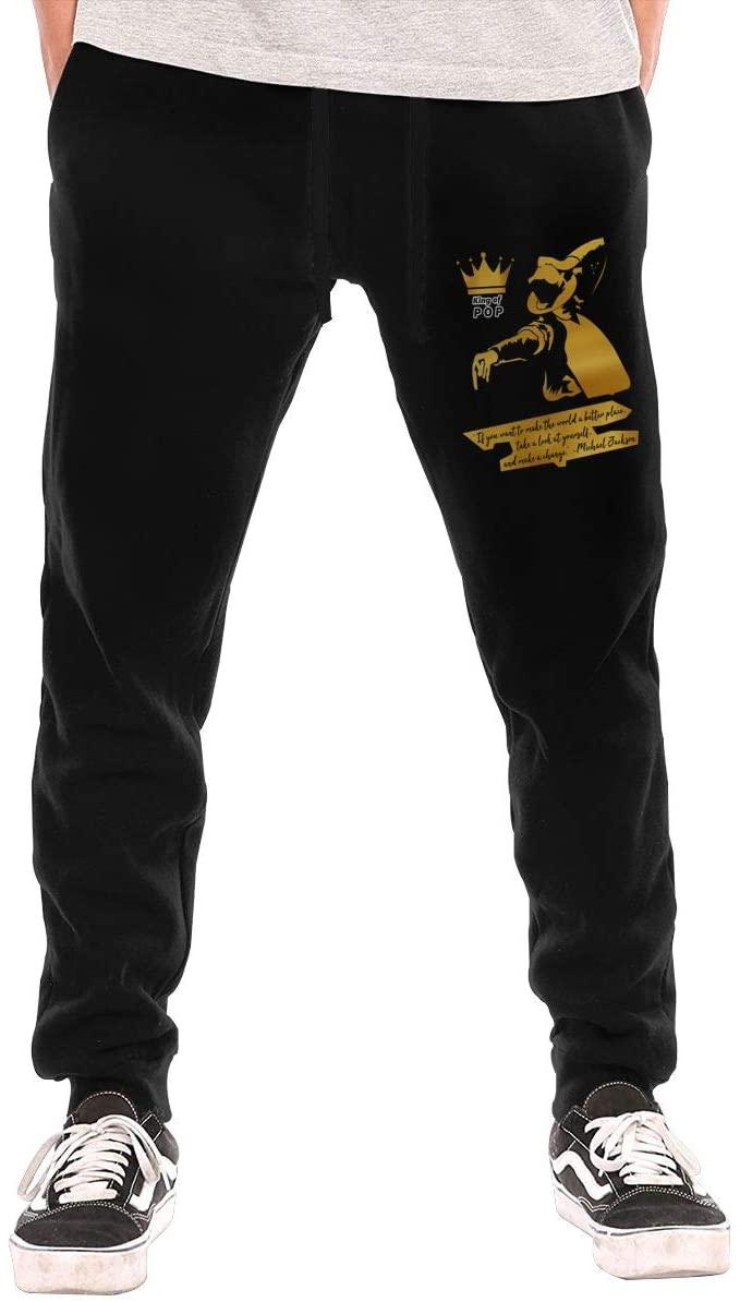 Jurenhq Michael Jackson King of Pop Mens Sweatpants Sport Pants Casual Teen Trousers with Pockets