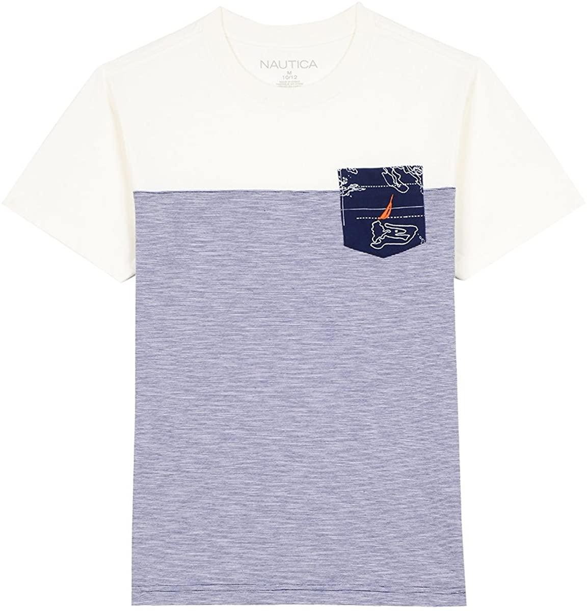 Nautica Boys' Short Sleeve Colorblock Crew-Neck T-Shirt