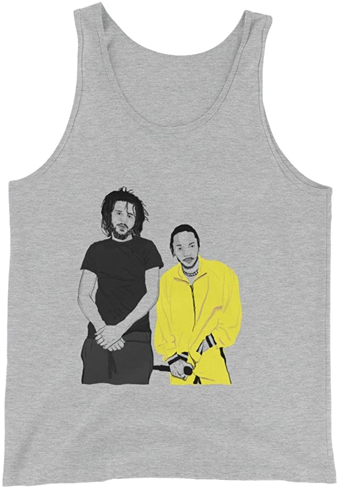 Babes & Gents Jcole and Kendrick Lamar Grey Tank Top (Unisex)