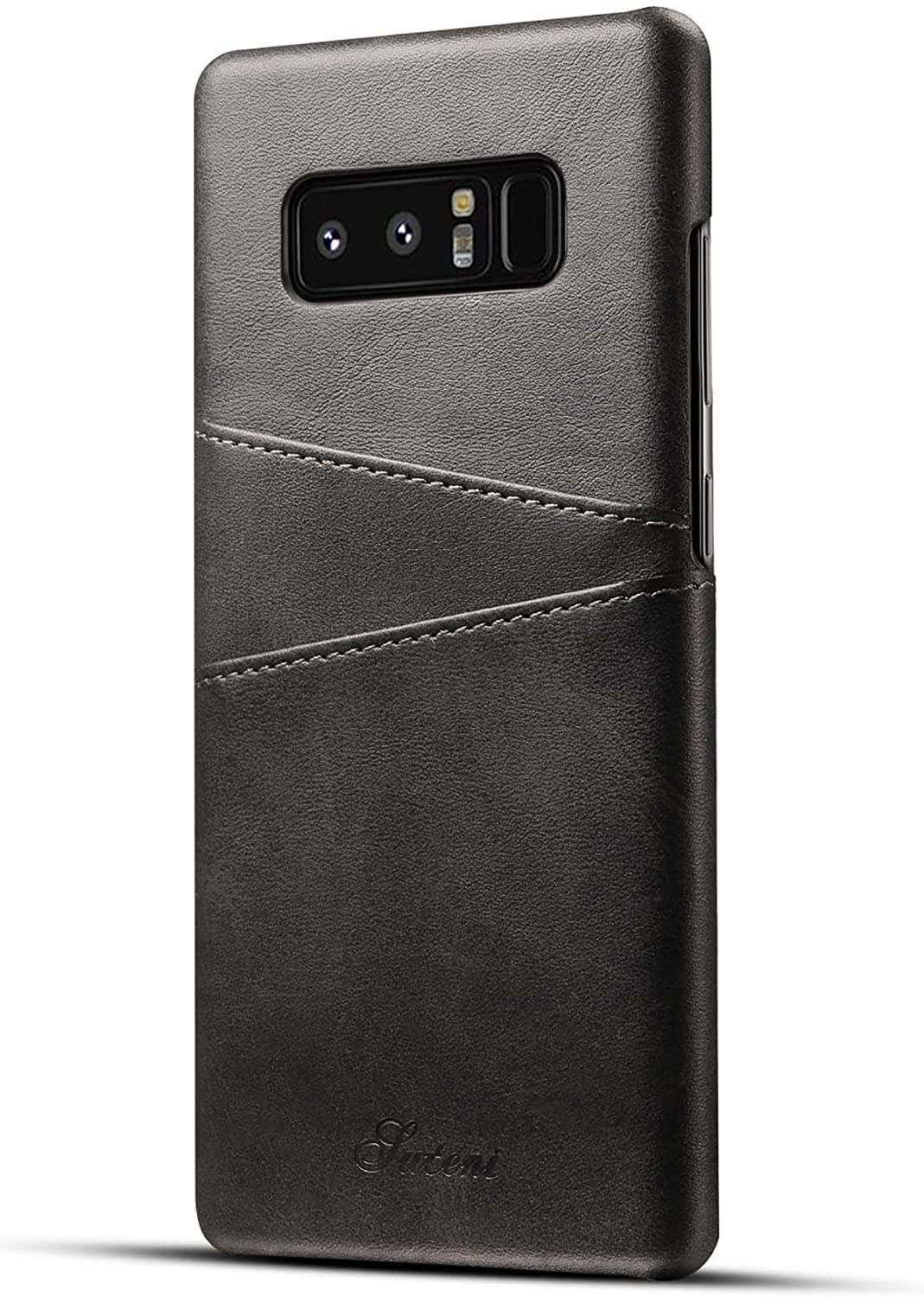 Galaxy Note 8 Case Synthetic Leather Wallet Slim Cover with Card Holder Slots