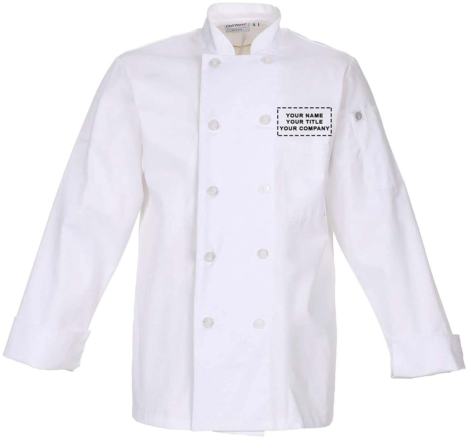 Chef Works Mens Le Mans Chef Coat with Custom Embroidery