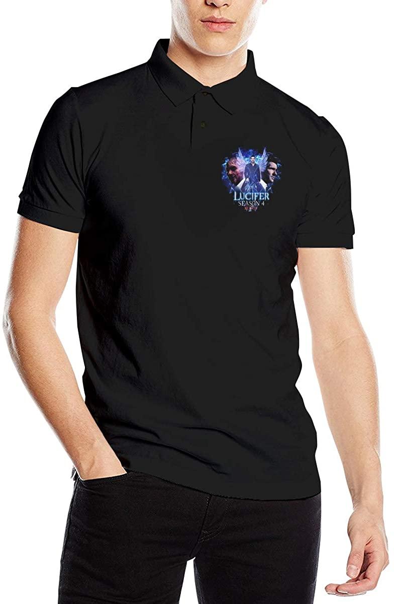 Lucifer Mens Premium Polo Shirt Short Sleeve T-Shirt