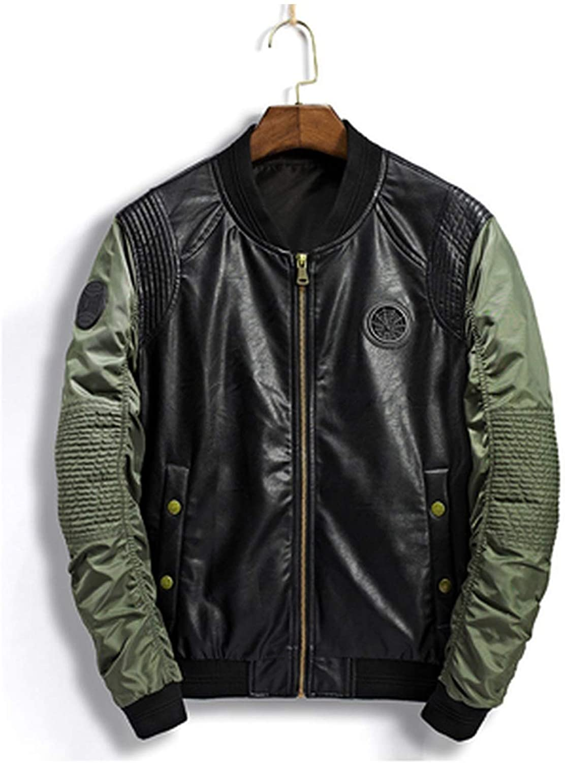 PU Bomber Jacket Men Jacket Pilot Air Force Leather Jackets Army Military Motorcycle Coats,TA031