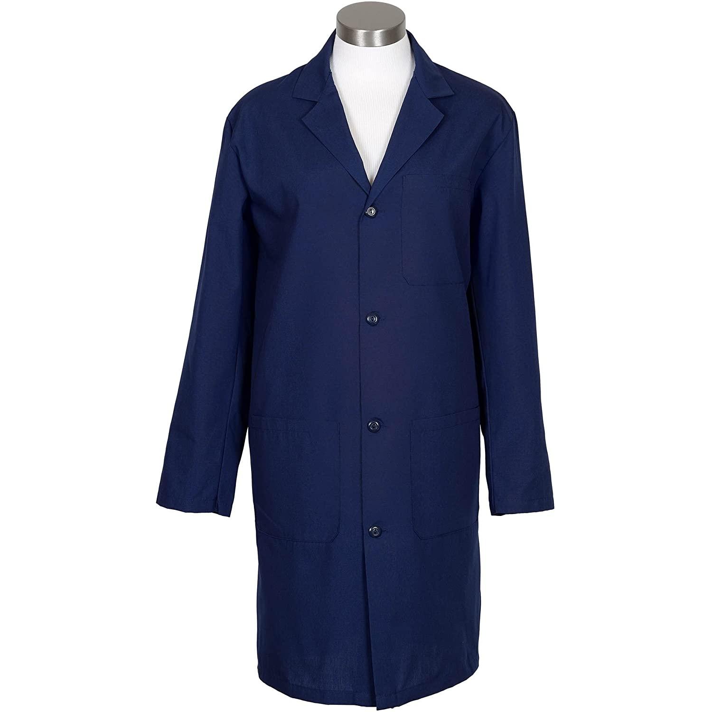 Fame Fabrics 83365 L2 Male Lab Coat, Navy, SM