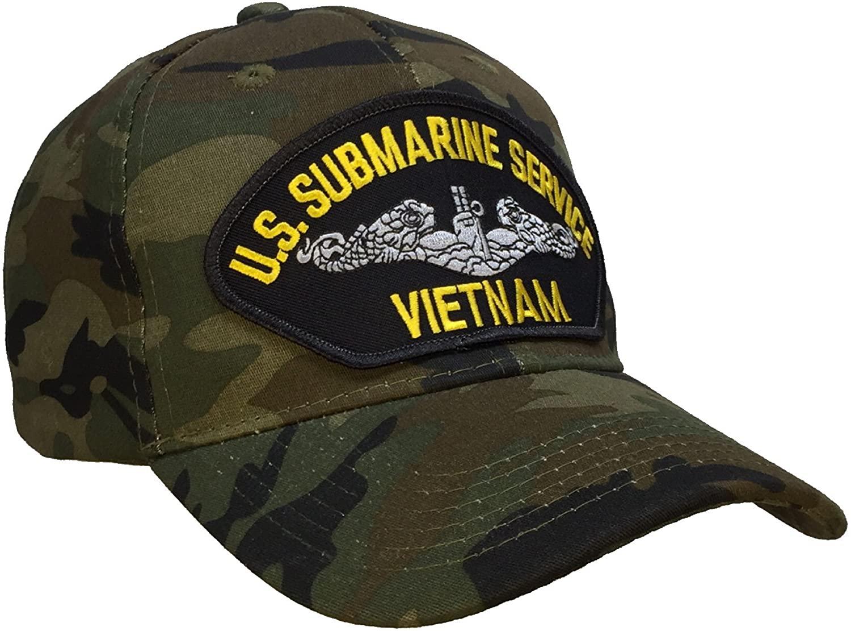 Submarine Service Veteran VIETNAM Hat CAMO Ball Cap