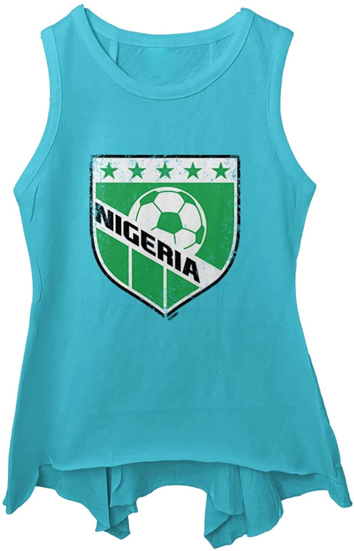 Tcombo Nigeria Soccer - Distressed Badge Toddler/Youth Sleeveless Backswing