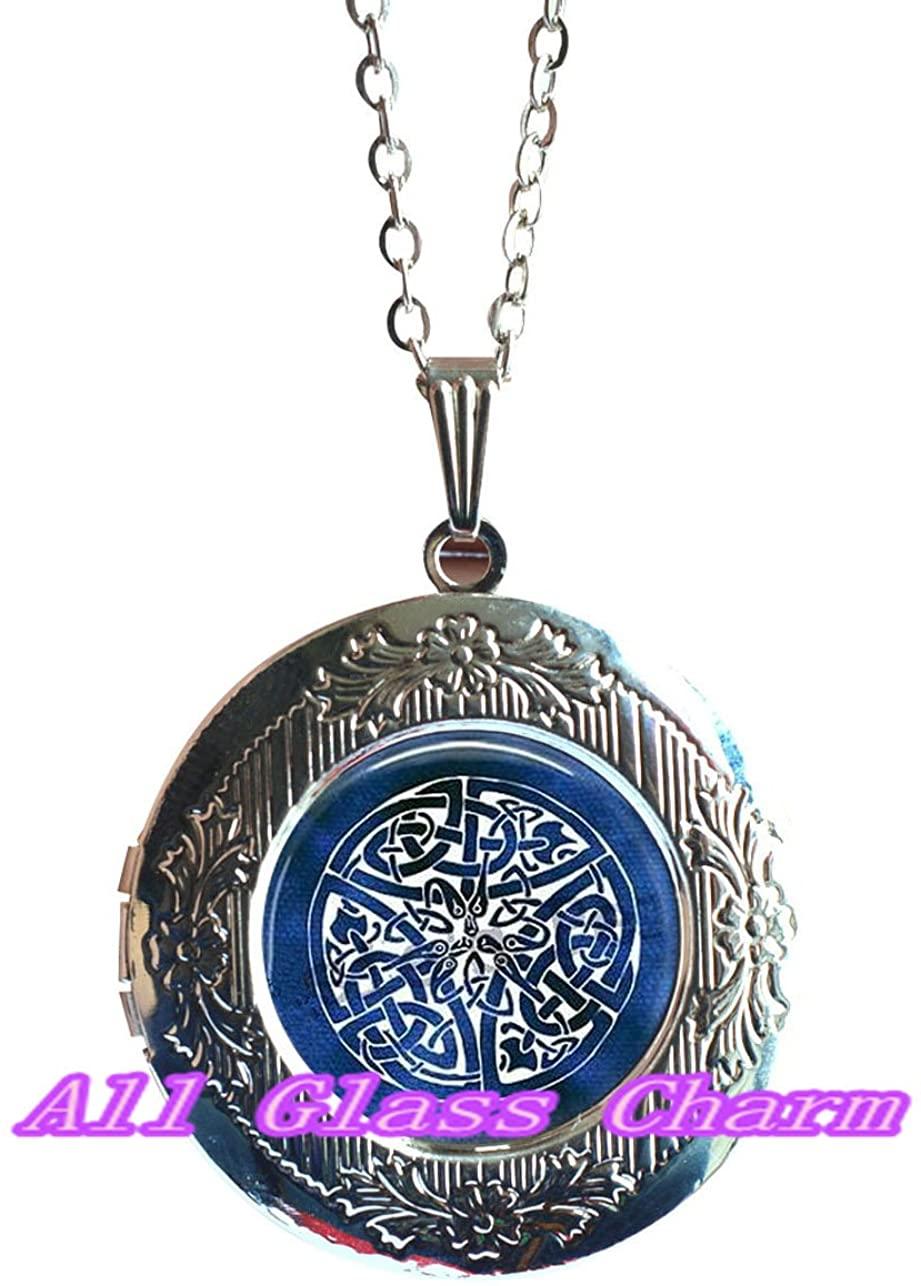 Charming Locket Necklace,Beautiful Locket Necklace,Celtic Knot Locket Necklace Locket Pendant - Something Blue - Celtic Wedding - Bride Locket Pendant - Celtic Jewelry - Celtic Knot Jewellery